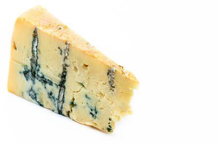 白い背景で隔離の作品ゴルゴンゾーラ チーズ 写真素材