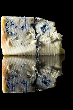 Piece gorgonzola cheese
