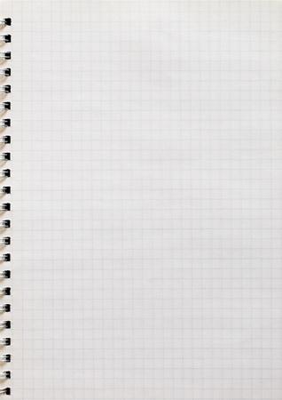 Spiral notepad graph paper