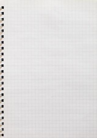 Spiral notepad graph paper Stock Photo - 12332890