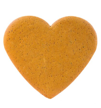 gingerbread heart: Gingerbread heart isolated on white Stock Photo