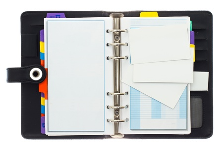 Blank cards and personal telephone organizer