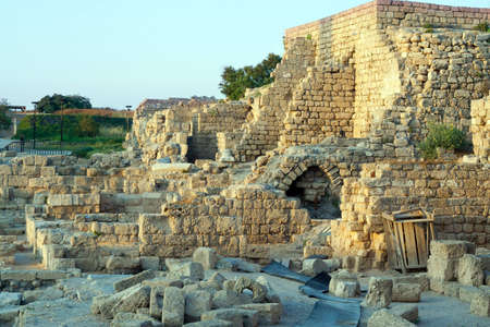 holyland: The ruins of the ancient city of Caesarea   Israel Stock Photo