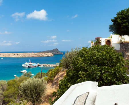 lindos: lindos. Island of Rhodes in Greece