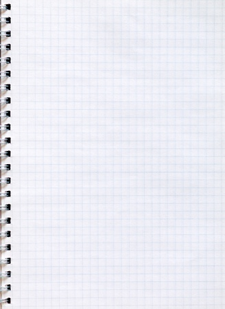 wire mesh: Spiral notepad graph paper