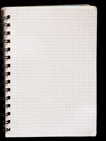 Spiral notepad graph paper  photo