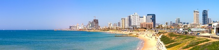 tel aviv: Tel-Aviv beach panorama Jaffa  Israel