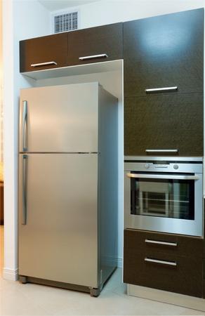Kitchen modern design with integrated appliances Banco de Imagens