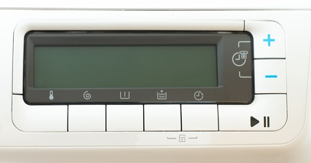 Washing machine control panel photo