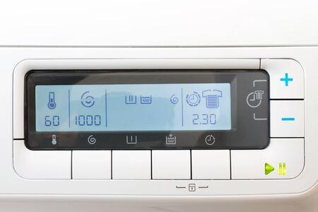 control panel lights: Washing machine control panel