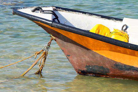 Old fishing  boat on the sea in Israel  photo