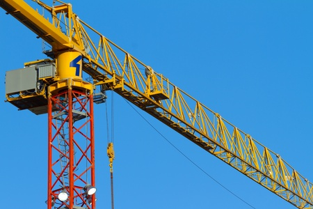 Construction crane in operation in Israel