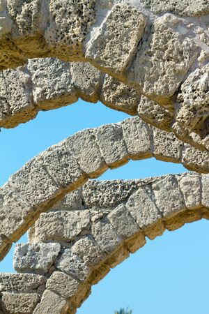 ancient israel: The ruins of the ancient city of Caesarea.  Israel