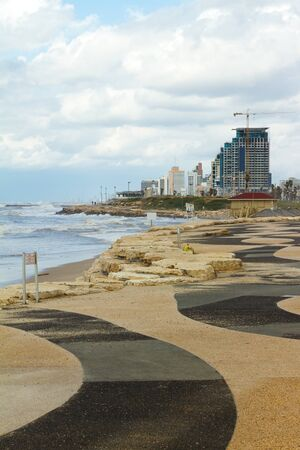 Tel-Aviv beach panorama.Jaffa. Israel. Stock Photo - 13534537
