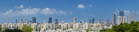 Tel-Aviv and Ramat Gan city. Israel.