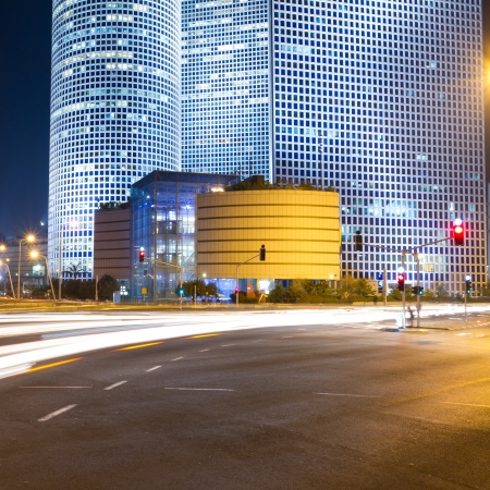 Tel Aviv at night  Azrieli center  photo