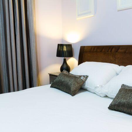 新しい家の家具付きのベッドルーム 写真素材 - 13957884