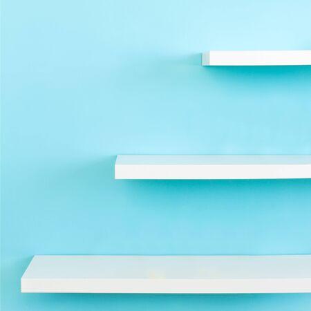 Shelves Interior design in a new house photo