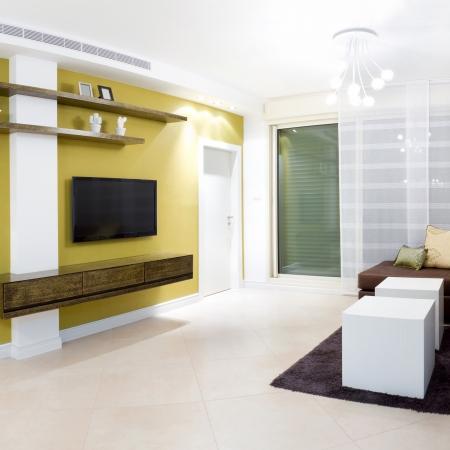 소파: 새 집의 인테리어 디자인.