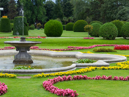 formal garden: Botanical Garden of the University of Vienna in Austria