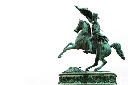 archduke: Statue Of Archduke Charles Of Austria at the Hofburg Imperial Palace in Vienna Stock Photo