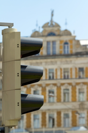 Traffic light of Vienna - cityscape of Austrian capital city. photo