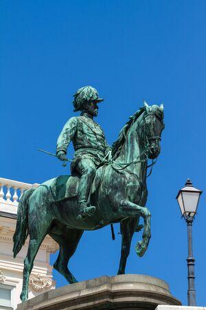 albrecht: Famous statue of archduke Albrecht  in Vienna, Austria  Stock Photo