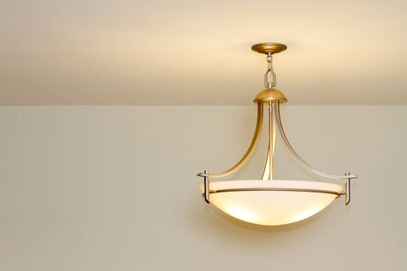 Modern ceiling lamp in a new home Stock Photo - 15847001