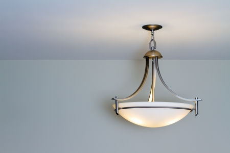 Modern ceiling lamp in a new home Banco de Imagens - 15846995