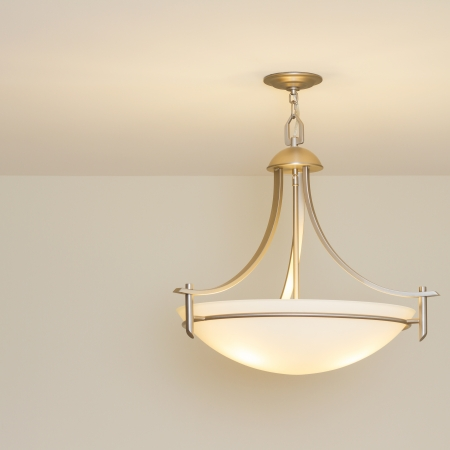 Modern ceiling lamp in a new home Stock Photo - 15846990