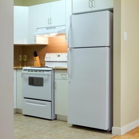 Modern kitchen interior in new home photo