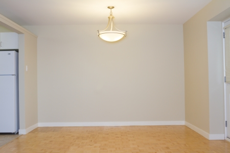Empty Living Room in a new apartment Stock Photo
