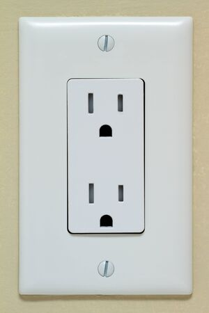Normaal stopcontact op de muur