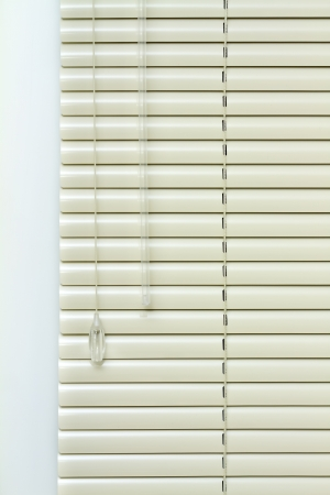 jalousie: Metal Blinds with drawstring. Blinds texture Stock Photo