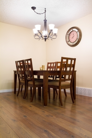 Inter design of dining room in a new house Stock Photo - 16116440
