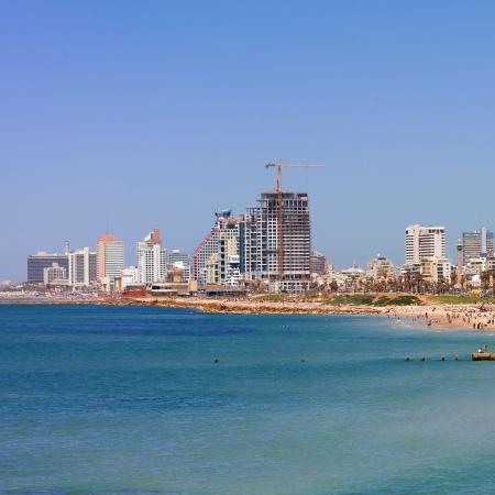 Tel-Aviv beach panorama Jaffa  Israel Stock Photo - 16694388
