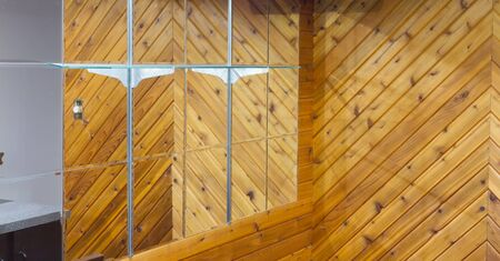 Basement with mirror and wood walls Stock Photo - 16849899