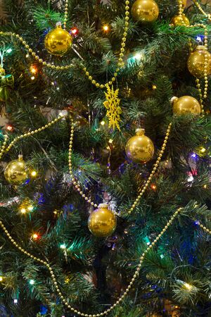 Decorated Christmas tree  photo