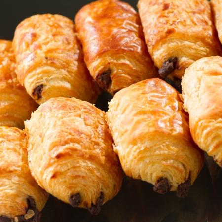 Tasty and fresh croissant on black background Stock Photo - 17102976