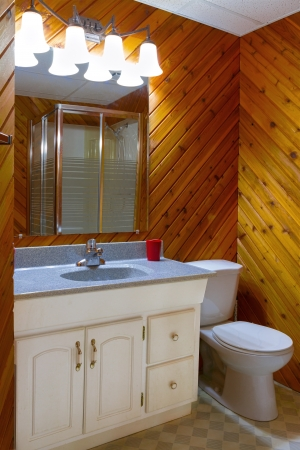 Inter design of a bathroom  in new house Stock Photo - 17099404