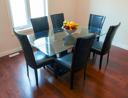 Interior design of dining room in a new house Stock Photo - 17591945