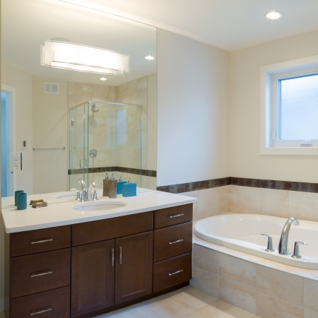 toilet sink: Interior design of a bathroom  in new house