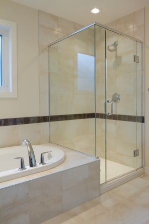 bathroom tile: Interior design of a bathroom  in new house