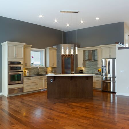 Interior design of modern kitchen photo