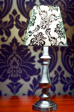 Lamp lampshade bedroom interior decor Stock Photo - 18205288