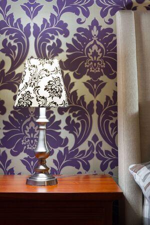 Lamp lampshade bedroom interior decor Stock Photo - 18205293