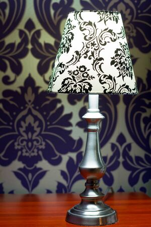 Lamp lampshade bedroom interior decor Stock Photo - 18205289