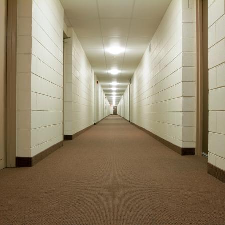 office lighting: Modern Hallway in new building