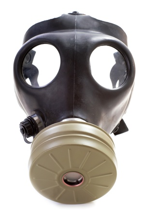 Israeli gas mask on white background Standard-Bild