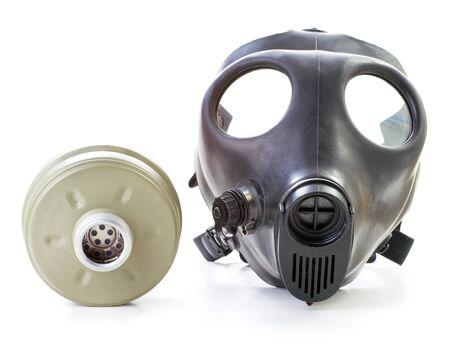 israeli: Israeli gas mask and filter  on white background